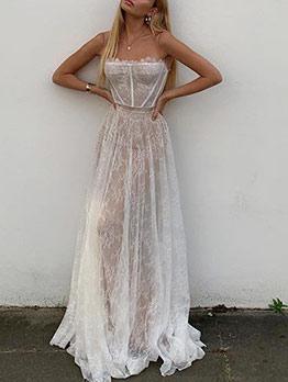 Stylish Slip Ladies Lace Maxi Dress