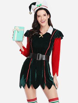 Irregular Hem Long Sleeve Witch Cosplay For Christmas