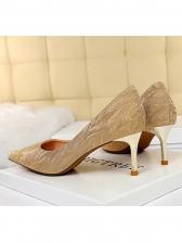7CM Pointed Solid Wedding Stiletto High Heels