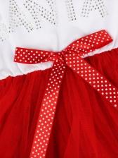 Smart Waist Gauze Long Sleeve Christmas Dress Casual