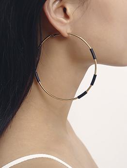 Simple Design Contrast Color Hoop Earrings