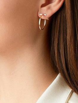 Simple Design Geometric Earrings For Women