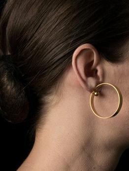 Chic Geometric Circle Golden Earrings