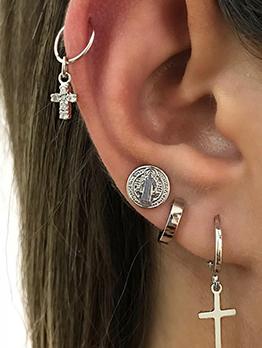 Fashion Geometric 4 Piece Cross Earrings