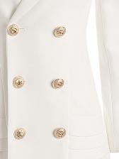 Ruffled Hem Double Breasted Blazer Dress