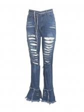 Hip Hop High Waist Ripped Jeans For Women