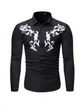 Versatile Printed Button Down Shirts For Men