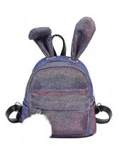 Cute Style Rabbit Ears Glitter Backpack For Women