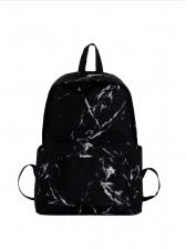 Marbling Large Capacity Unisex Canvas Backpack