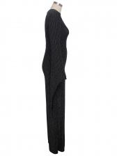 Glitter One Shoulder Wide Leg Jumpsuit