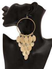 Geometric Round Tassel Earrings For Women