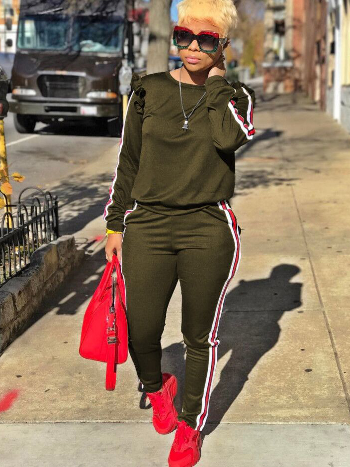 StringySelvedge Solid Sporty Womens Tracksuits