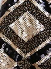 Sequined Rhombus Pattern Glitter Mini Skirt