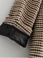Casual Houndstooth Lapel Long Sleeve Womens Blazer