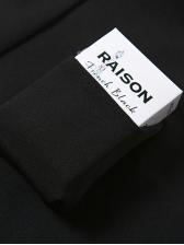 Short Single Breasted All Black Coat