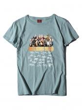 Crew Neck Short Sleeve Cheap t Shirt Printing