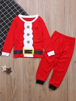 Christmas Causal Long Sleeve Boys Clothing Set Casual