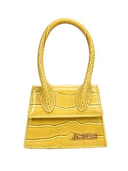 Solid Color Stone Grain Mini Handbags With Belt