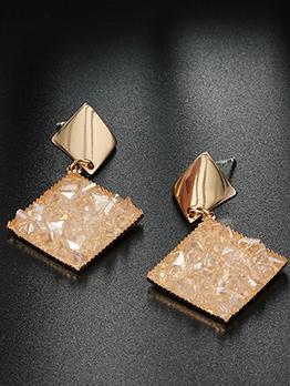Geometric Square Shape Stud Earrings