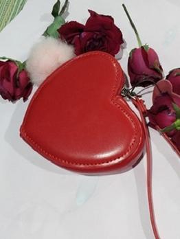Sweet Style Heart Shape Small Wallet For Women