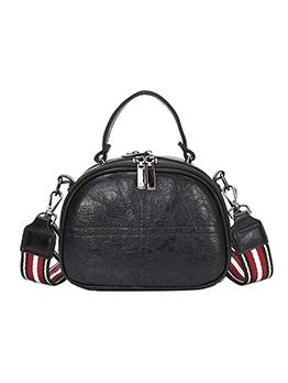 Casual Multiple Zipper Stripes Belt One Shoulder Bags