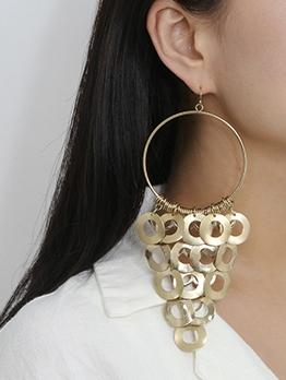 Geometric Hollow Tassel Earrings For Women