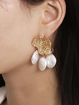 Stylish Asymmetrical Faux Pearl Earrings Design