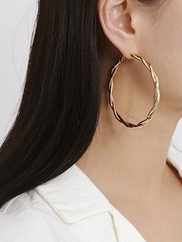 Twist Round Shape Earrings For Women