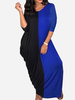 Casual Color Block Women Casual Maxi Dresses