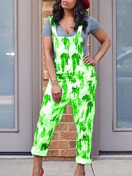 Printed Sleeveless Ladies Jumpsuits