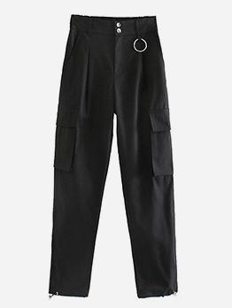 Black Pockets Jogger Cargo Pants