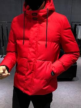 Slim Fit Zip Up Hooded Winter Coats