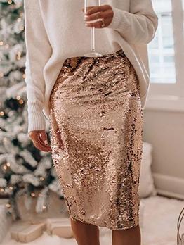 Night Club Sequin Women Pencil Skirt