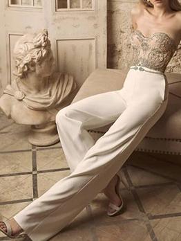 Glitter Rhinestone Patchwork Ladies Strapless Jumpsuit