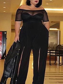 Off Shoulder Bodysuit And Wide Leg Pant Set