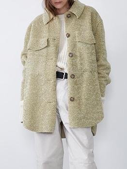 Lambswool Pockets Ladies Coats