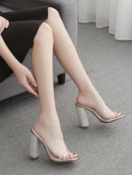 Tiny Diamond Transparent Womens Slippers