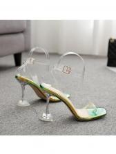 PVC Clear Goblet Heel Sandal