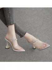 Transparent Rhinestone Ladies Slippers
