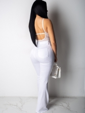 Button Fly White High Waisted Jeans For Women