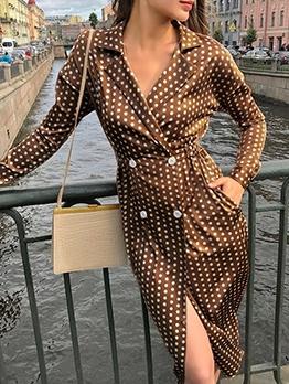Business Polka Dots Women Blazer Dress
