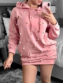 Chic Beading Decor Hooded Dresses Online