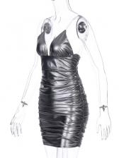 Seductive Ruched Slip Mini Bodycon Dress