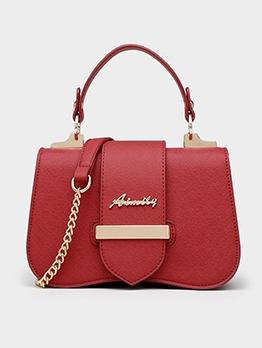 Metal Splicing Women Shoulder Bags With Handle