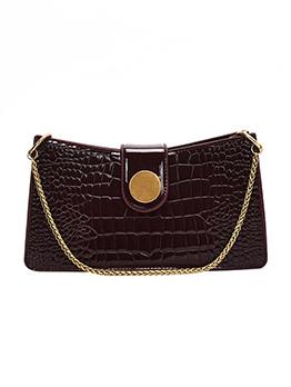 Alligator Print Chain Handle Women Shoulder Bags