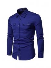 Leisure Dual Pockets Long Sleeve Shirts