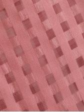 Plaid Pink Lantern Sleeve See Through Blouse