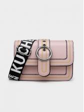 Ring Buckle Letter Wide Belt Ladies Shoulder Bags