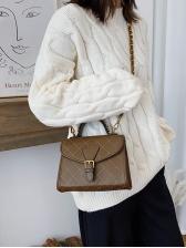 Threads Rhombus Chain Ladies Shoulder Bag With Handle