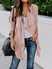 Solid Long Sleeve Cardigans For Women